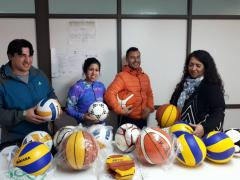 Se entregaron elementos deportivos a la Escuela Agropecuaria