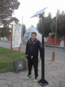 El Concejal Tomás Aguirres donó una pantalla solar para la oficina de Turismo