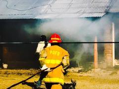 Incendio con grandes perdidas materiales