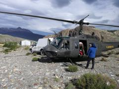 Gran Trabajo del Ejercito argentino en Rescate de un Andinista en El Chalten