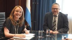 La Gobernadora se reunió con el Ministro de Desarrollo Productivo Nacional y pidió por los subsidios del Gas